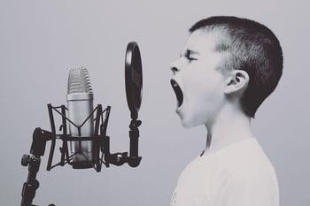 Boy doing voice over DRTV